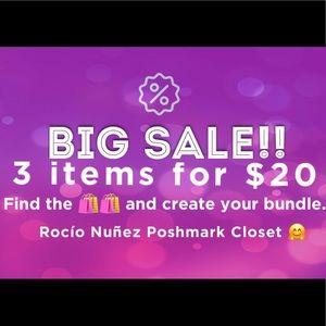3 x $20 Sale!! 🛍🛍 Create your bundle!
